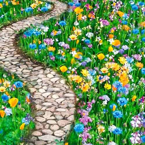 Газон цветущий Дорога к дому, смесь окрасок Русский огород НК изображение 1 артикул 69864