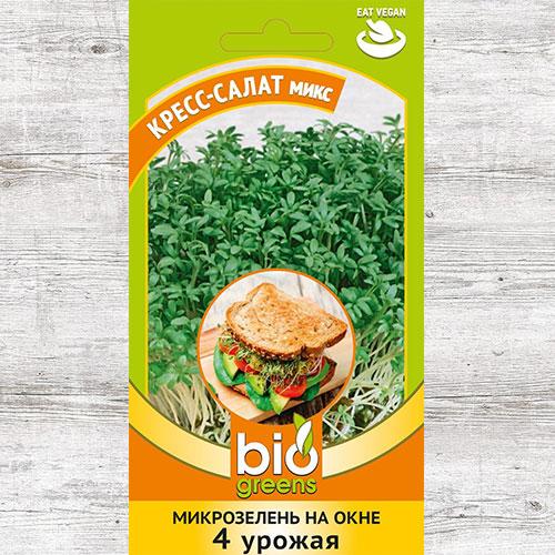Микрозелень Кресс-салат микс, смесь сортов Гавриш изображение 1 артикул 69847