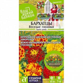 Бархатцы Веселые гномики, смесь окрасок Семена Алтая изображение 3