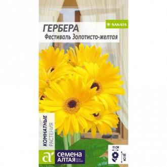Гербера Фестиваль Золотисто-желтая Семена Алтая изображение 6