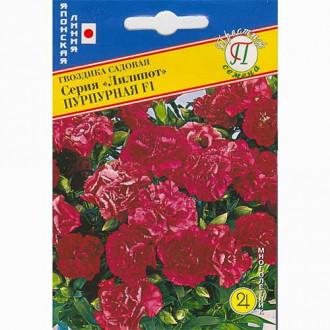 Гвоздика садовая Лилипот пурпурная F1 Престиж изображение 3