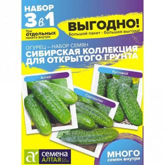 Огурец Сибирская коллекция Для открытого грунта, смесь сортов Семена Алтая изображение 3