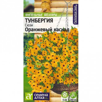 Тунбергия Сюзи Оранжевый каскад Семена Алтая изображение 4