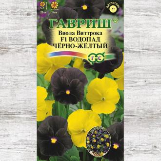 Виола Водопад черно-желтый F1, смесь окрасок Гавриш изображение 4